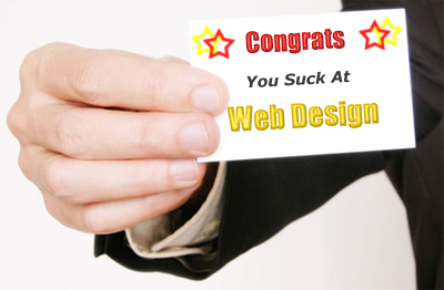 10 Step guide to suck at web design.