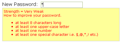 ColdFusion Password Strength