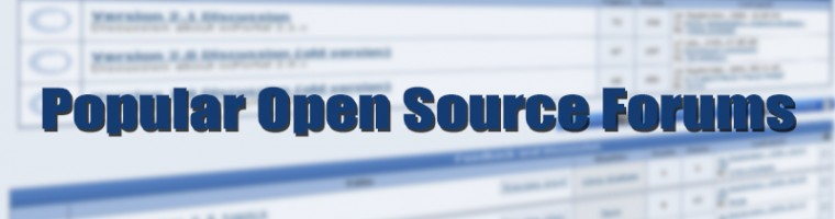 open source forums